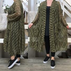 Lucy oversized A-lijn kanten blazer/jas  (extra groot)  apart