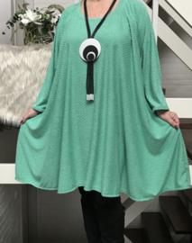 Ruby oversized jersey A-lijn tuniek/ jurk met zakken apart stretch (extra groot)