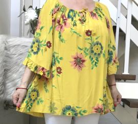 ITALIA viscose A-lijn blouse /in meerdere kleuren