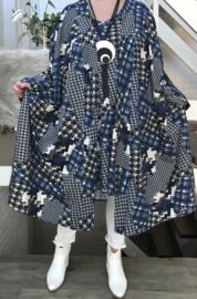 Livia oversized A-lijn jersey blazer/vest  (extra groot)  apart stretch