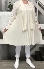 ITALIA jersey acryl A-lijn  jurk/tuniek met sjaal /in meerdere kleuren
