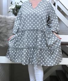 Moonshine luchtige katoen A-lijn jurk/tuniek apart/in meerdere kleuren