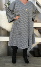 Gina oversized A-lijn jersey blazer/jas  (extra groot)  apart