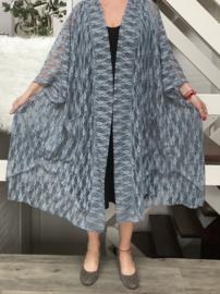Rebecca  oversized A-lijn kanten blazer/jas  (extra groot)  apart