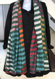 ITALIA zachte viscose/wol strepen sjaal/in meerdere kleuren