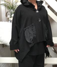 Vincenzo Allocca jersey korte blazer/jas  zwart