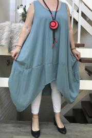 ITALIA MODE katoen tricot  A-lijn jurk/tuniek stretch/in meerdere kleuren