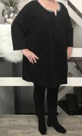 ITALIA  jersey tuniek ( extra groot) zwart