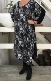 Paula oversized A-lijn jurk apart (extra groot)