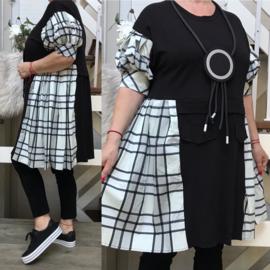 ITALIA katoen A-lijn  jurk stretch