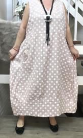 Moonshine linnen  A-lijn jurk apart/in meerdere kleuren