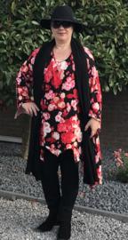 AKH Fashion viscose oversized bloemen tuniek (extra groot)