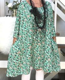 Lilian oversized A-lijn jersey tuniek/jurk met zakken apart (extra groot)
