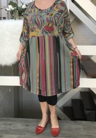 ITALIA  katoen jersey  A-lijn jurk/tuniek apart (extra groot)/in meerdere kleuren
