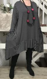 Moonshine jersey A-lijn strepen tuniek/jurk /in meerdere kleuren