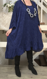 Isa oversized jersey A-lijn tuniek/ jurk met zakken apart (extra groot)