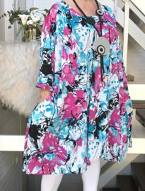 Melanie oversized A-lijn jersey tuniek/jurk met zakken apart (extra groot)