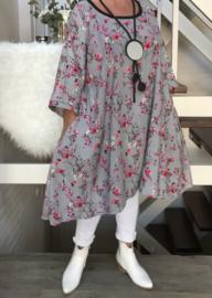 Patty oversized A-lijn tuniek/jurk met zakken apart (extra groot)
