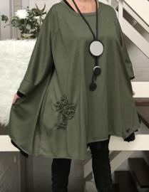 Martha oversized A-lijn jersey jurk/tuniek apart (extra groot)
