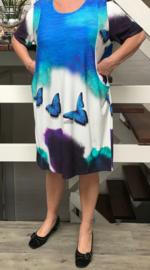 Naveed jersey jurk met vlinders / in meerdere kleuren