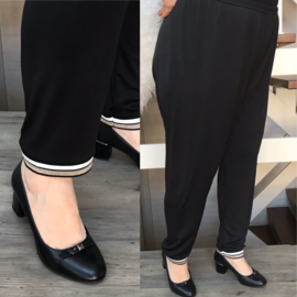 Italia  slim legging zwart met bis