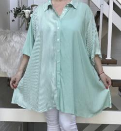 Jean Marc Philippe   viscose A-lijn hemd/blouse
