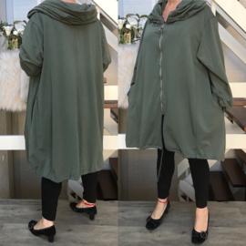 Moonshine A-lijn jersey blazer/jas (extra groot)/in meerdere kleuren