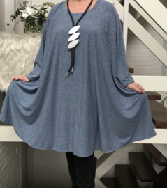Isabella oversized jersey A-lijn tuniek/ jurk met zakken apart stretch (extra groot)