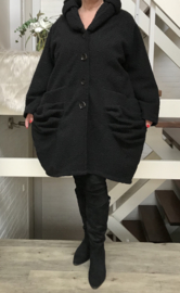 Moonshine oversized gevoerde mantel/ jas wol/viscose