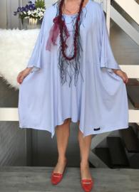 Nicola oversized A-lijn jersey jurk apart (extra groot)