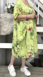 ITALIA  linnen A-lijn jurk met zakken /in meerdere kleuren