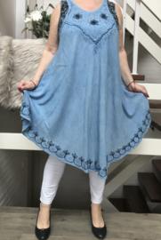 Laura viscose asymmetrisch A-lijn jurk/in meerdere kleuren