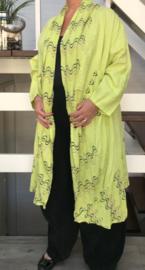 Moonshine oversized A-lijn linnen blazer/jas  apart/in meerdere kleuren