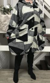 New Jersey  A-lijn jas/mantel met capuchon acryl (extra groot)