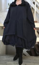 Moonshine gevoerde mantel/jas  ( extra groot) donkerblauw