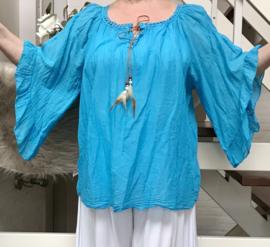ITALIA katoen blouse/in meerdere kleuren