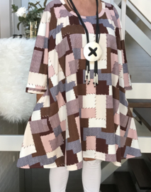 Kate oversized A-lijn jersey tuniek/jurk met zakken apart (extra groot)