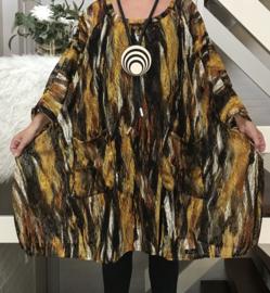Milly oversized A-lijn KANTEN jurk/tuniek apart (extra groot) stretch