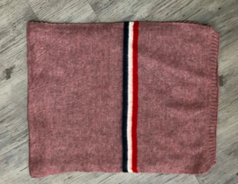Italia gebreide sjaal oud roze