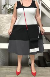 Boris jersey A-lijn jurk met tas