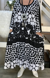 Hannah oversized A-lijn jersey jurk met zakken apart (extra groot)