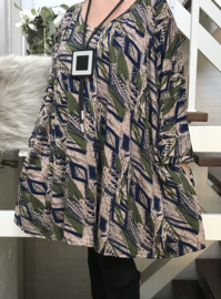 Natasha oversized A-lijn viscose jersey tuniek/jurk met zakken apart (extra groot)stretch