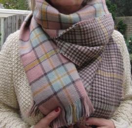 dubbelzijdig zachte geruite winter sjaal