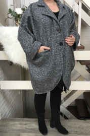 ITALIA oversized  mantel/ jas  wol/viscose