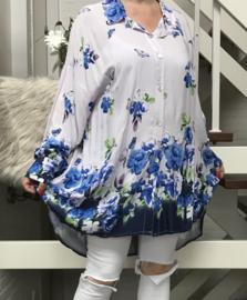ITALIA viscose  A-lijn hemd/tuniek/blouse