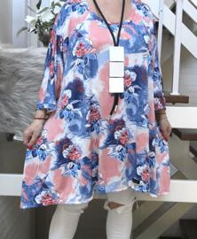 Lisa oversized A-lijn jersey tuniek/jurk met zakken apart (extra groot)stretch