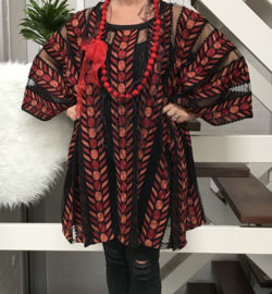 Amalia  viscose oversized poncho/ tunieke (extra groot)/in meerdere kleuren