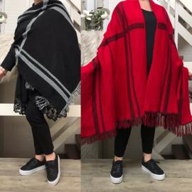 ITALIA  gebreid superzacht sjaal/poncho /in meerdere kleuren