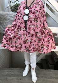 Francine  oversized viscose crepe A-lijn jurk/tuniek met zakken apart   (extra groot)