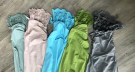 Moonshine katoen legging met KANT /in meerdere kleuren